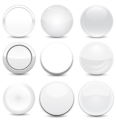 Blank White Buttons vector image