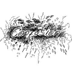 Confusion vector image vector image