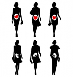 pregnant women vector image vector image