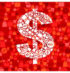 Sale dollar vector image vector image