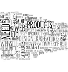 What features should your ecommerce web site have vector