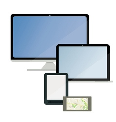 A set of electronic technology vector image vector image