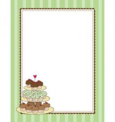 cupcake border vector image vector image