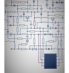 Electrical Circuit diagram vector image vector image
