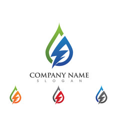 lightning logo template icon design vector image vector image