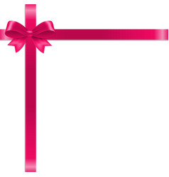 pink bow with ribbon vector image