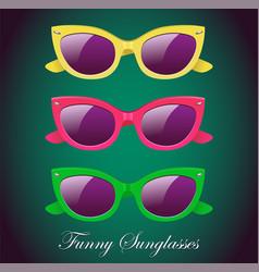 retro set of sunglasses icon vector image