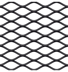 Texture black and white expanded metal sheet mesh vector image vector image
