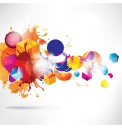 Abstract colorful background with geometric vector