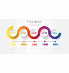 abstract colorful business path timeline info vector image