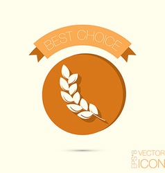 abstract wheat spike ears icon vector image