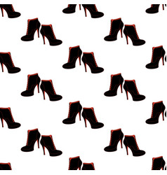 ankle boots shoes pattern vector image