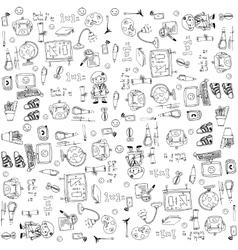 Art doodle of element education vector