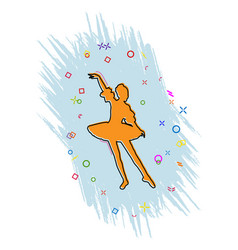 Ballerina icon comic book style icon with splash vector