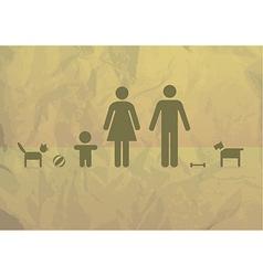 Basic family vector image