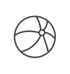 Beach ball icon line volleyball symbol iso vector