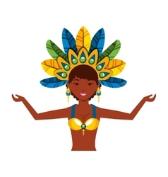beautiful carnival dancer character vector image
