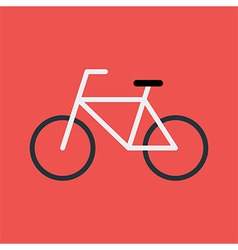 Bicycle flat stylized sign vector