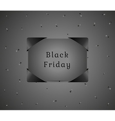 Black friday gift with black confetti vector