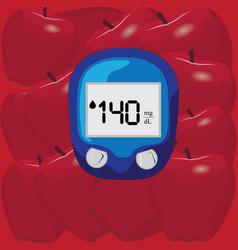 blood test for glucose level vector image