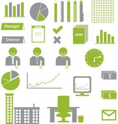 Business Graph Icons vector image
