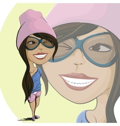 Cartoon girl vector image