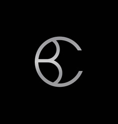 Cb initials logo is cool and professional vector
