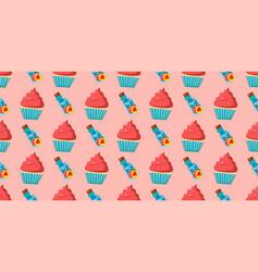 Children s seamless pattern for girls alice vector