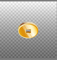 chinese feng shui gold coin with square hole photo vector image