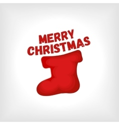 Christmas red sock vector image