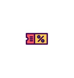 coupon icon design e-commerce icon design vector image