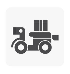 delivery icon black vector image