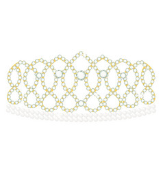 diadem icon jewelled crown and classic headband vector image