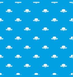 Diamond pattern seamless blue vector