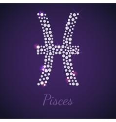 Diamond zodiac pisces vector