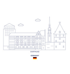 Dortmund city skyline vector