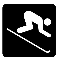Downhill Skiing Sign vector image