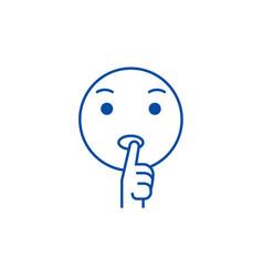 dreaming emoji line icon concept dreaming emoji vector image