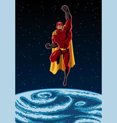 earth and superhero vector image