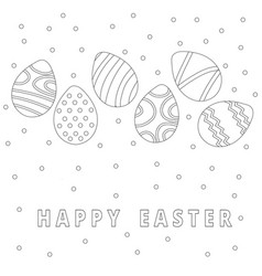 easter egg icons collection in doodle style hand vector image