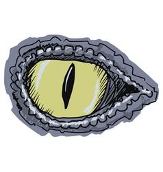eye of crocodile vector image