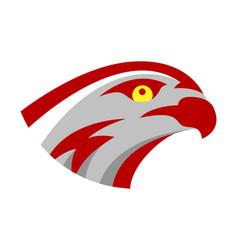 Falcon or hawk head sport logo mascot design vector