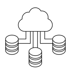Figure blue cloud hosting data center vector