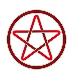 Five point pentagram icon vector