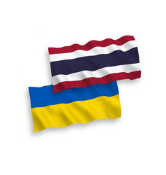 flags thailand and ukraine on a white vector image