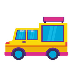 food truck on white background vector image