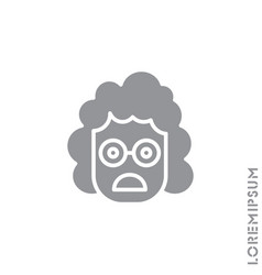 Frowning with open mouth girl woman emoji vector