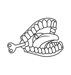 Funny joke teeth icon vector