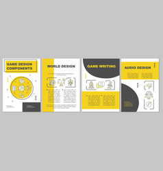 game designing brochure template vector image