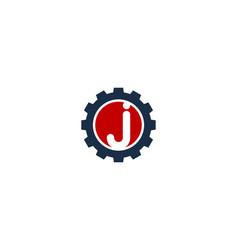 gear letter j logo icon design vector image